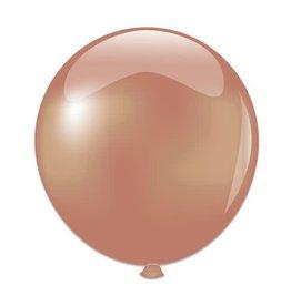 Topballon Parel Roségoud (91 cm)
