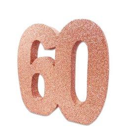 Tafeldecoratie 60 Glitter Roségoud (20 cm)