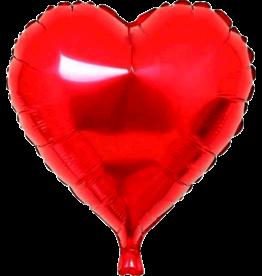 Folie Ballon Hart Rood (45 cm)