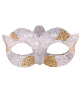 Masker Wit met Goud en Zilver
