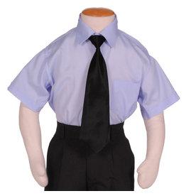 Kinderoverhemd Korte Mouw Lichtblauw