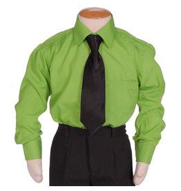 Kinderoverhemd Groen Lange Mouwen