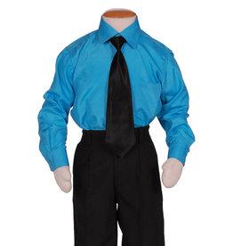Kinderoverhemd Lange Mouw Turquoise