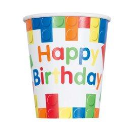 Bekers Building Blocks Happy Birthday (8 stuks)