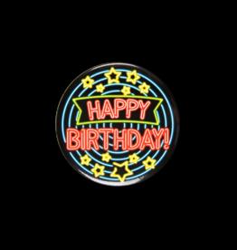 Neon Button - Happy Birthday