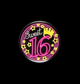 Neon Button - Sweet 16