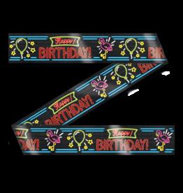 Neon Party Tape - Happy Birthday