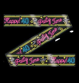 Neon Party Tape – 40 Jaar
