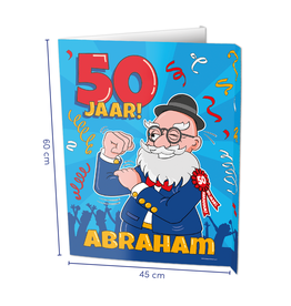 Window Signs - Abraham 50  Jaar