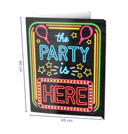 Window Signs Neon - The Party is Here
