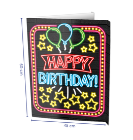 Window Signs Neon - Happy Birthday