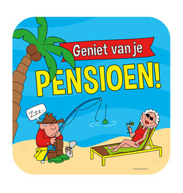 Huldeschild - Pensioen Cartoon