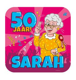 Huldeschild - Sarah Cartoon