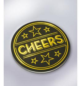 Glossy Onderzetters - Cheers!