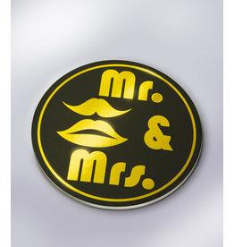 Glossy Onderzetters - Mr. & Mrs.