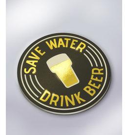 Glossy Onderzetters - Save Water