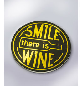 Glossy Onderzetters - Smile, There's Wine