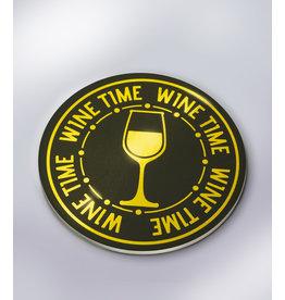 Glossy Onderzetters - Wine Time!