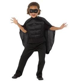 Superhelden Set Kind, Zwart
