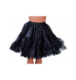 Petticoat Zwart middel lang, elastique