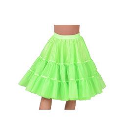 Petticoat Fluor Groen Middel Lang, Elastique