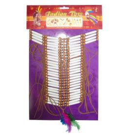 Indianen Halsketting met pijpjes en Kraaltjes