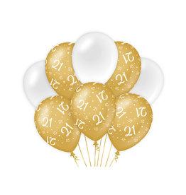 Decoratie Ballon Goud/Wit - 21