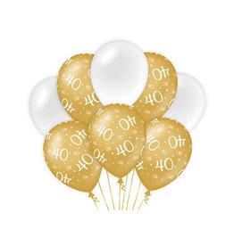 Decoratie Ballon Goud/Wit - 40
