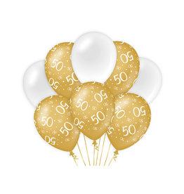 Decoratie Ballon Goud/Wit - 50