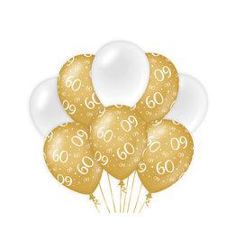 Decoratie Ballon Goud/Wit - 60