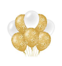 Decoratie Ballon Goud/Wit - 70
