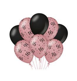 Decoratie Ballon Rosé/Zwart - 16