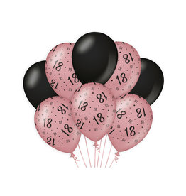 Decoratie Ballon Rosé/Zwart - 18