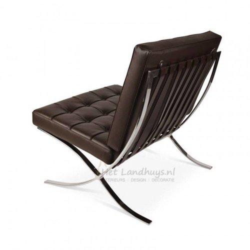Het Landhuys Barcelona chair donkerbruin PREMIUM replica | Incl. Gratis vloerbeschermers t.w.v € 20,-