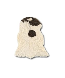 Curly Sheepskin Longhair Brown Heads