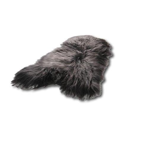 Het Landhuys IJslandse schapenvacht antraciet/antraciet/zwart