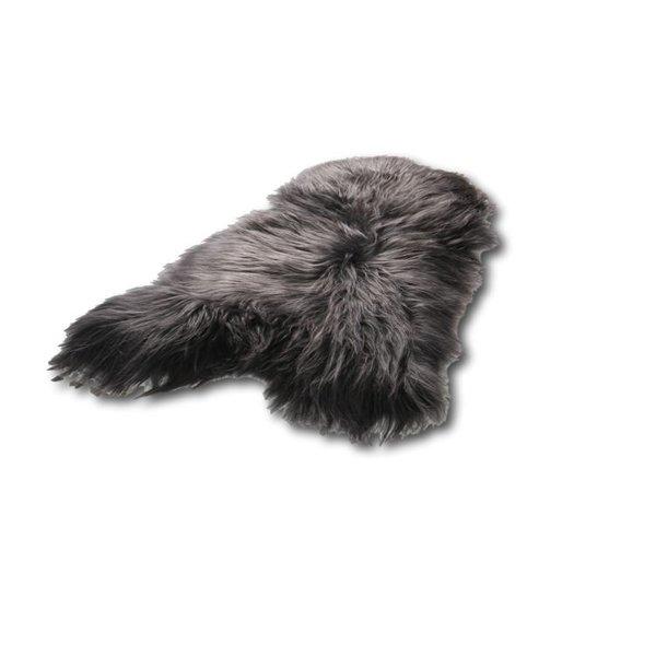 IJslandse schapenvacht antraciet/antraciet/zwart