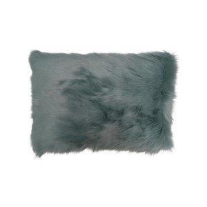 Raaf Throw pillow cover Fur gray-blue