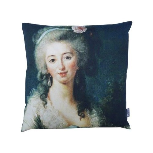 Raaf Throw pillow cover French petrol 40x40 cm