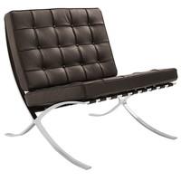 Barcelona chair donkerbruin | Premium edition