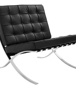 Barcelona chair dark black