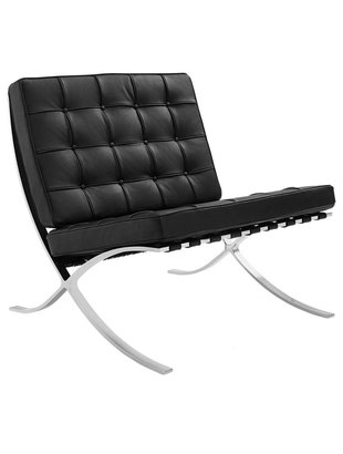 Het Landhuys Barcelona stoel zwart replica PREMIUM   Incl. Gratis vloerbeschermers t.w.v. € 20,-