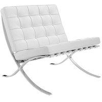 Barcelona chair dark white