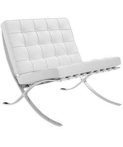 Barcelona chair dark white