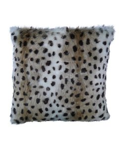 Throw pillow cover Hyena brown