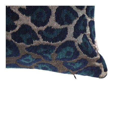 Raaf Throw pillow cover Leopard petrol 40x60