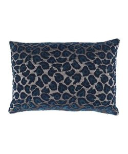 Throw pillow cover Leopard petrol 40x60