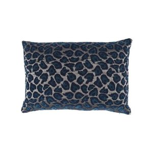 Raaf Throw pillow cover Leopard petrol 40x60