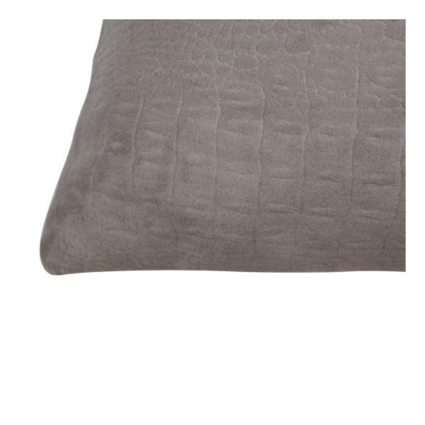 Throw pillow cover crocodile taupe 40x60 cm