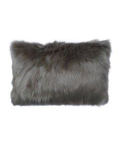 Throw pillow cover Fur gray-blue - Copy